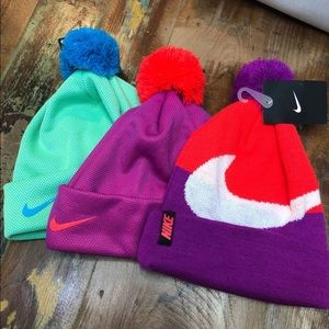 Three NWT Youth Nike Hats